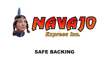 Navajo Express Semi Backing Safety